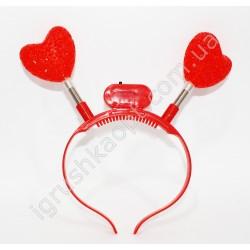 CR2722 Обруч рожки с сердцем