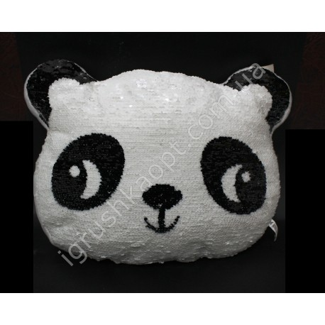 AA2036 Подушка Панда, с пайетками.