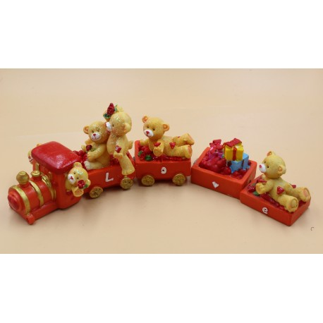"P586 Поезд, Мишки ""LOVE"". Керамика."